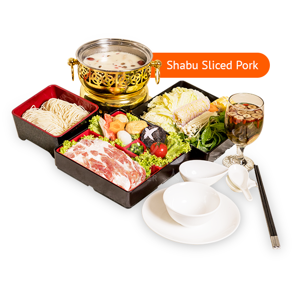 Set B <br> 6 Course Personal Pot <br> Set Lunch <br> (Shabu Sliced Pork)