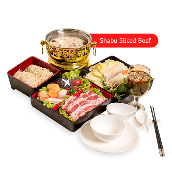 Set C <br> 6 Course Personal Pot <br> Set Lunch <br> (Shabu Sliced Beef)