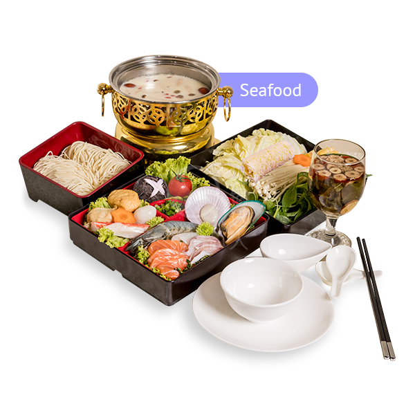 Set D <br> 6 Course Personal Pot <br> Set Lunch <br> (Seafood)