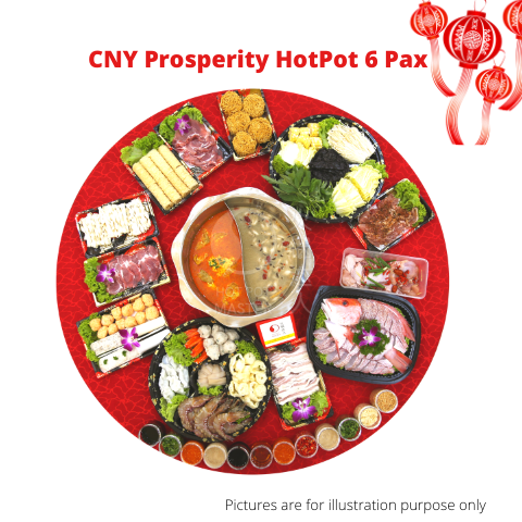CNY Prosperity HotPot set (6pax) <br>  (available from 1st Jan to 9th Feb, 2020)