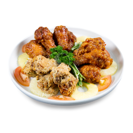 Trio Lucky Drumlets <br>(Fiery BBQ, Garlic Cheese & Thai Chili)